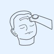 Měření na čele dotykovým teploměrem