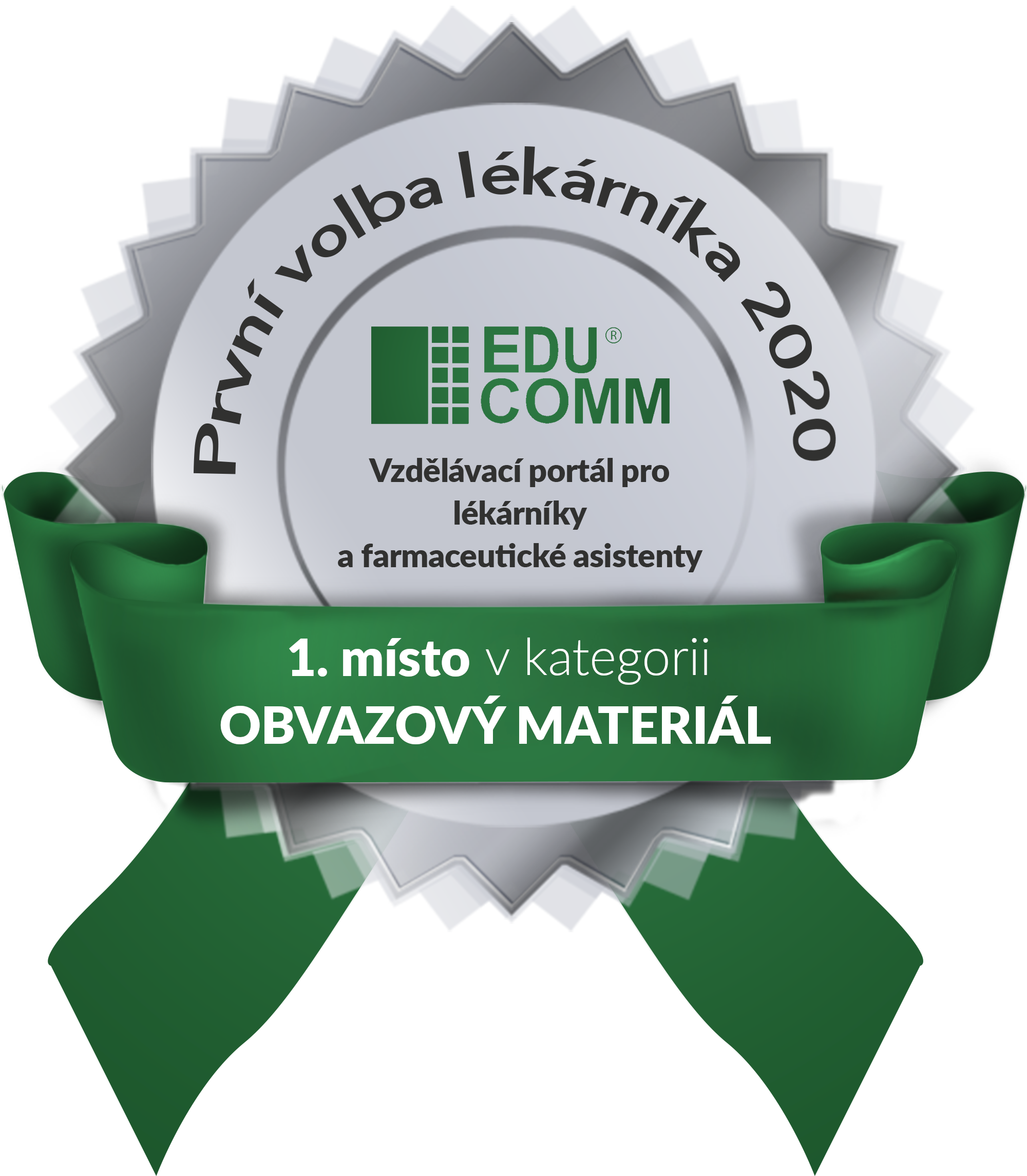 1. místo v kategorii Obvazový materiál v soutěži První volba lékárníka 2020