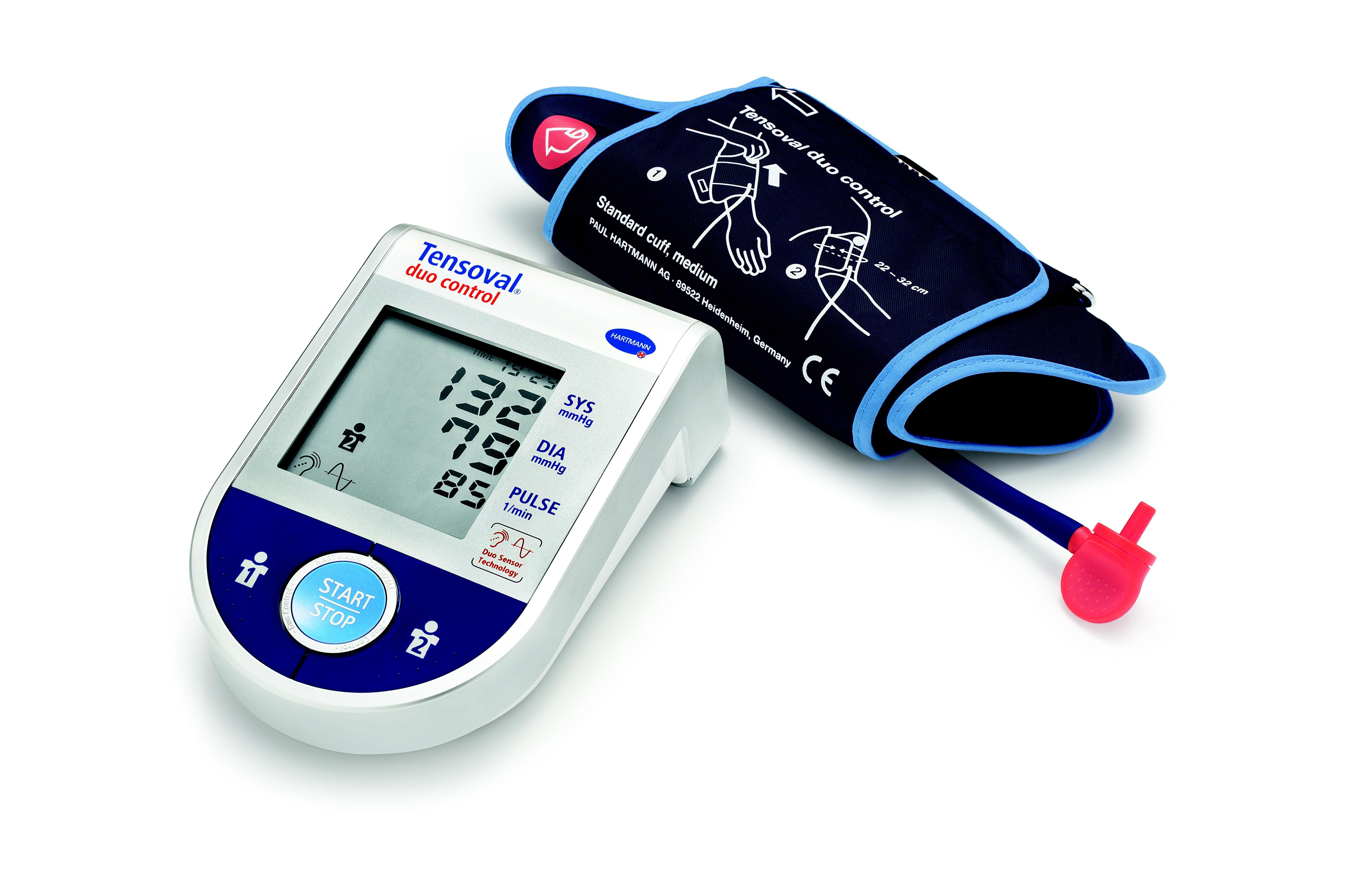 Digitální tonometr Tensoval duo control s technologií Duo Sensor, která měří stejně jako rtuťové tlakoměry