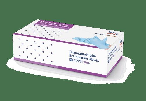 Vyšetřovací nitrilové rukavice Blue Sail Medical
