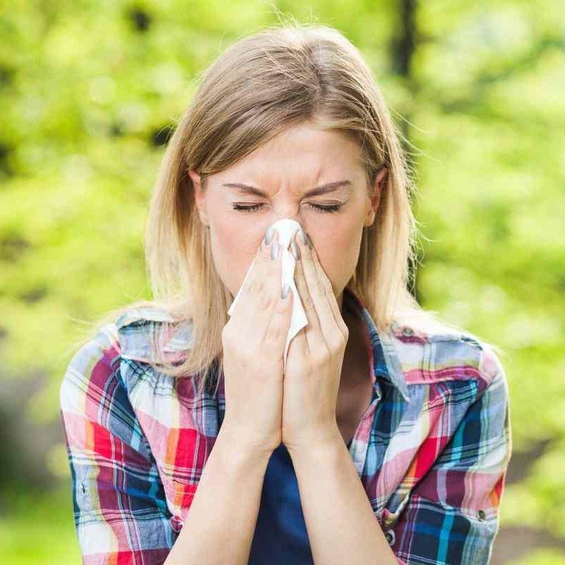 Příznaky alergie na pyly