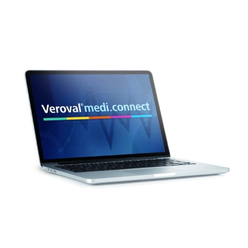 Aplikace Veroval medi.connect pro sledování naměřených hodnot