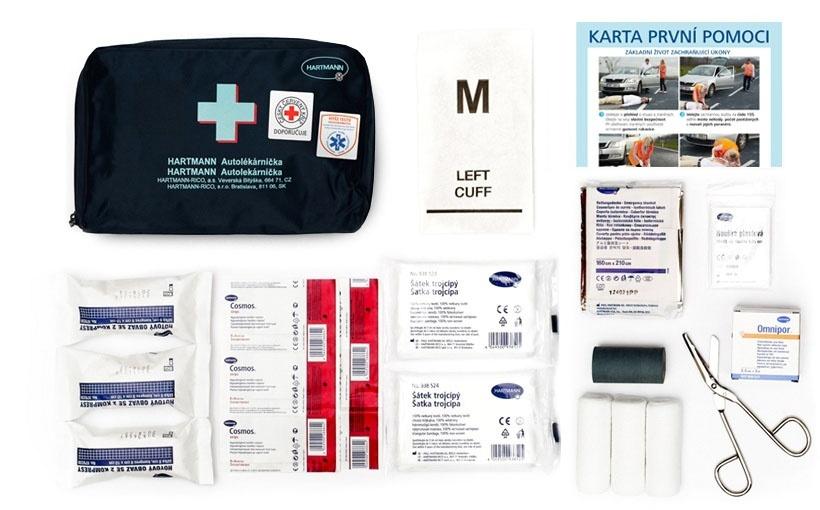Obsah modré autolékárničky HARTMANN