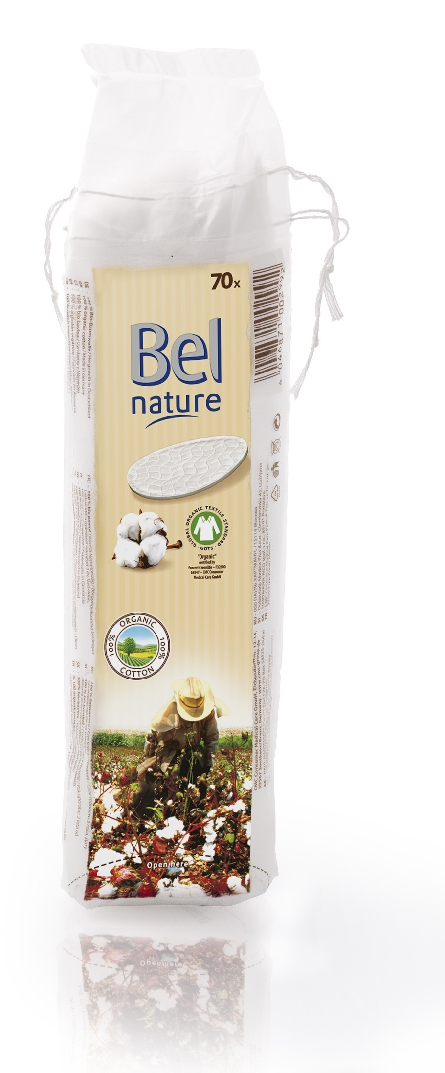 Bio vatové tampony Bel nature ze 100% bavlny