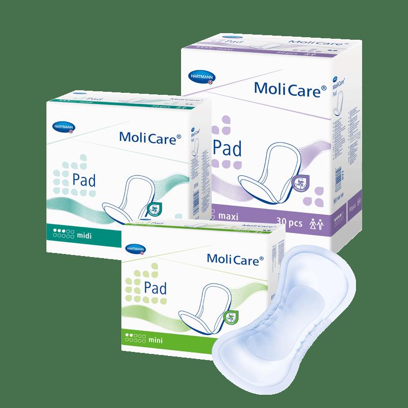 Dámské inkontinenční vložky MoliCarre Pad pro lehký únik moči