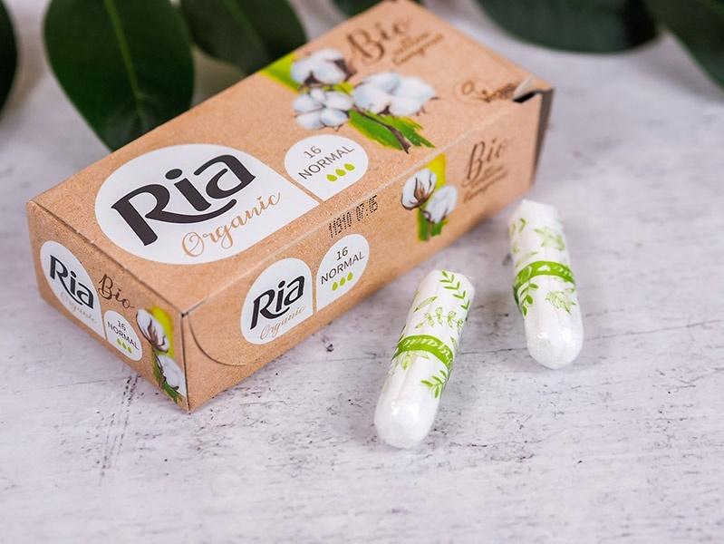 Dámské tampóny Ria Organic Normal ze 100% bio bavlny