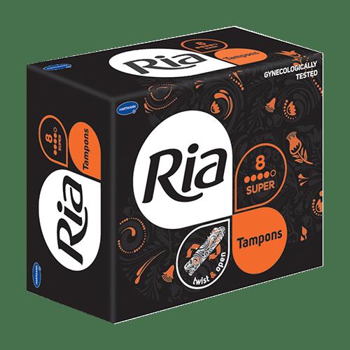 Dámské menstruační tampóny Ria Super 8 ks