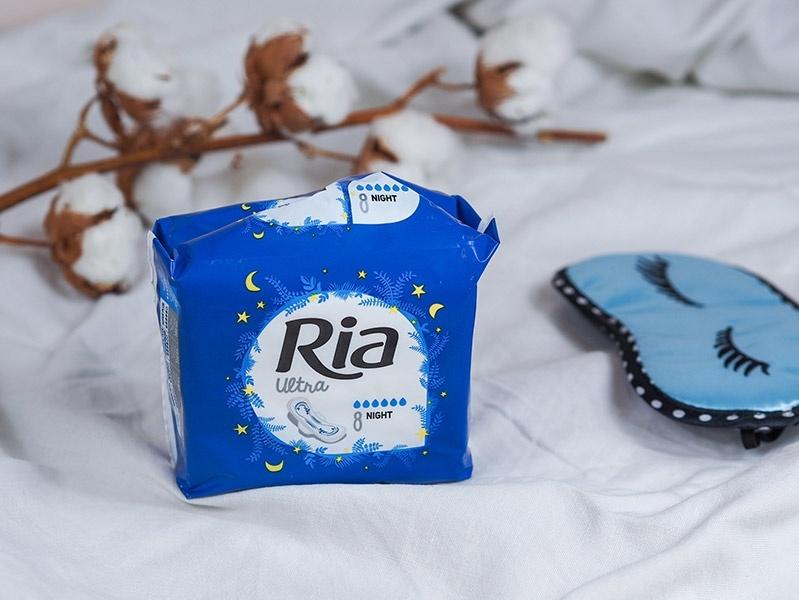 Dámské menstruační vložky Ria Ultra Night vhodné na noc