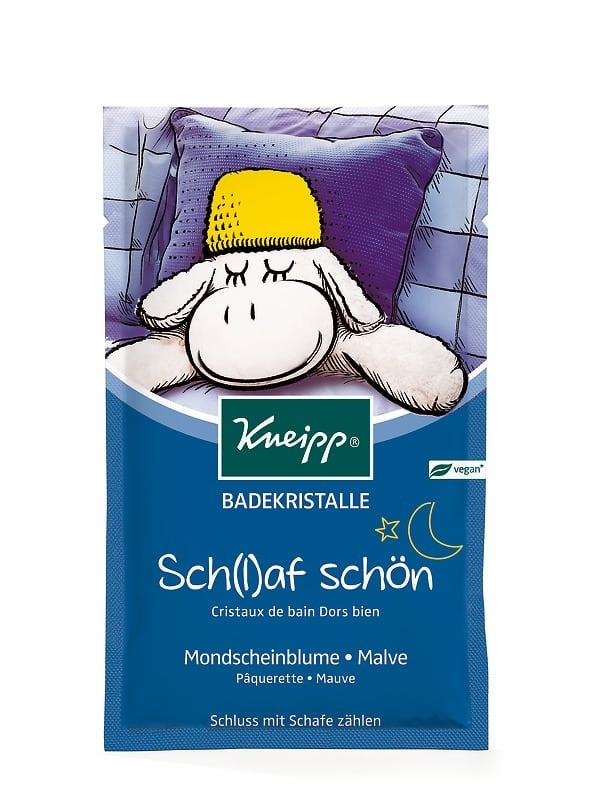 Dětská sůl do koupele Kneipp Dobrou noc se zklidňujícími výtažky ze slézu a sedmikrásek