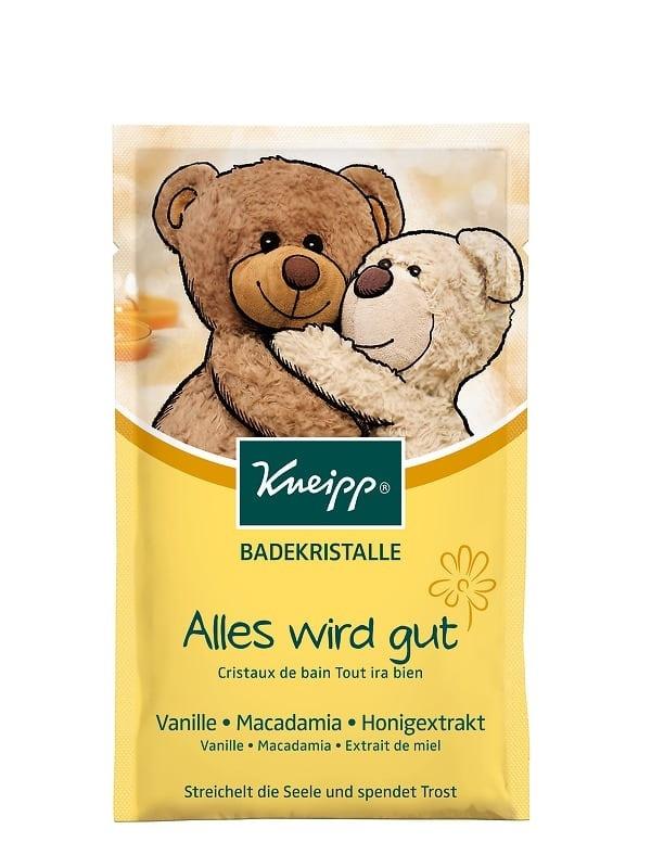 Dětská sůl do koupele Kneipp Všechno bude fajn s makadamiovým olejem, vanilkou a medem
