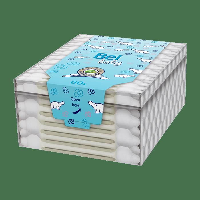 Bel baby dětské vatové tyčinky v krabičce