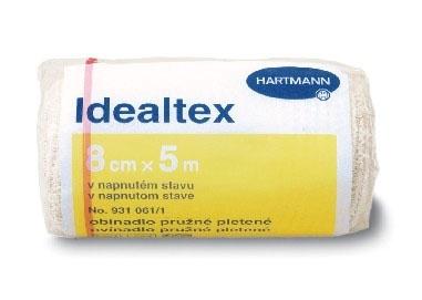 Dlouhotažné obinadlo Idealtex vytváří lehkou a střední kompresi s nízkým pracovním a vysokým klidovým tlakem.