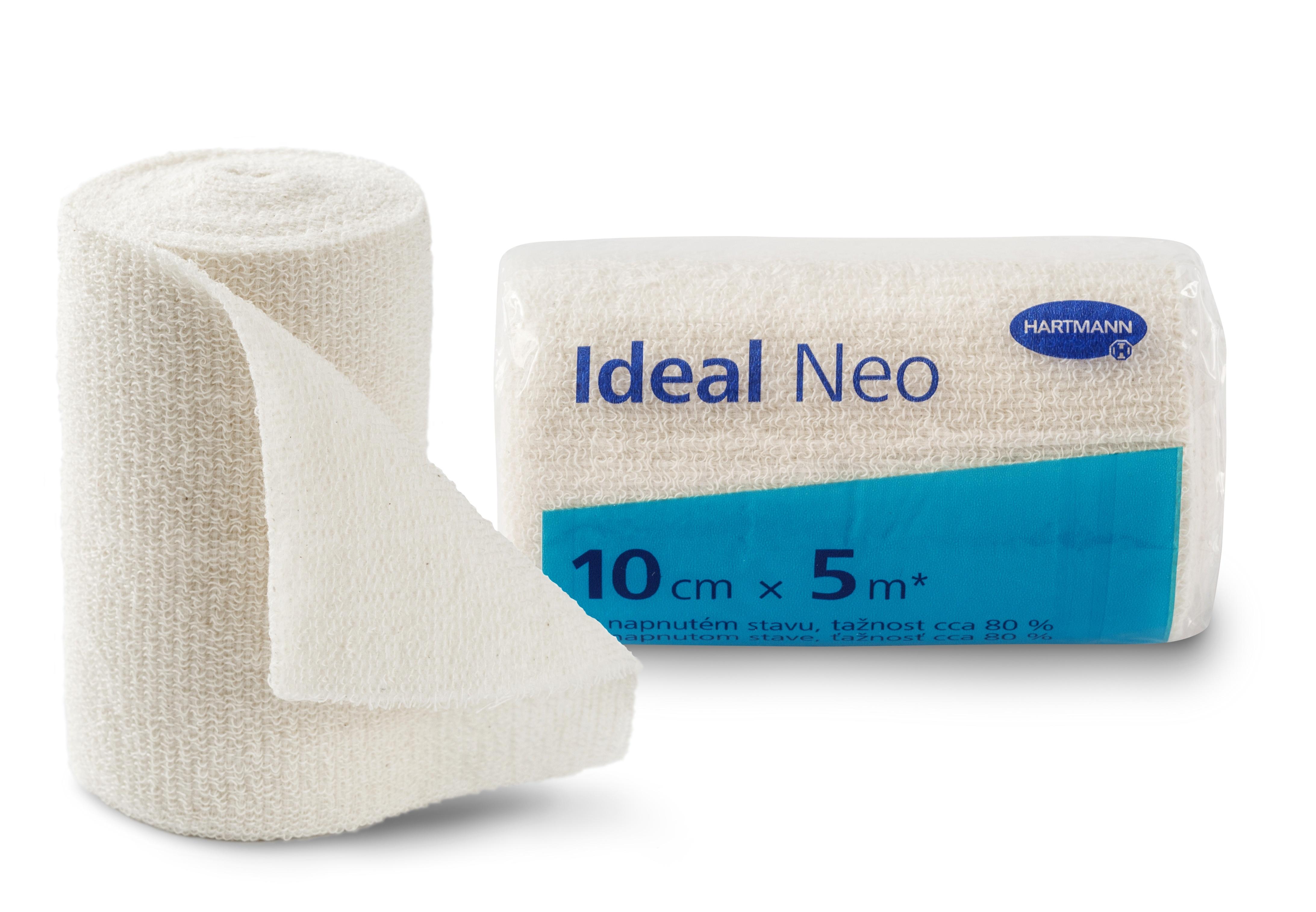 Elastické obinadlo Ideal Neo 10 cm × 5 m vhodné pro ošetřování onemocnění žilního a lymfatického systému