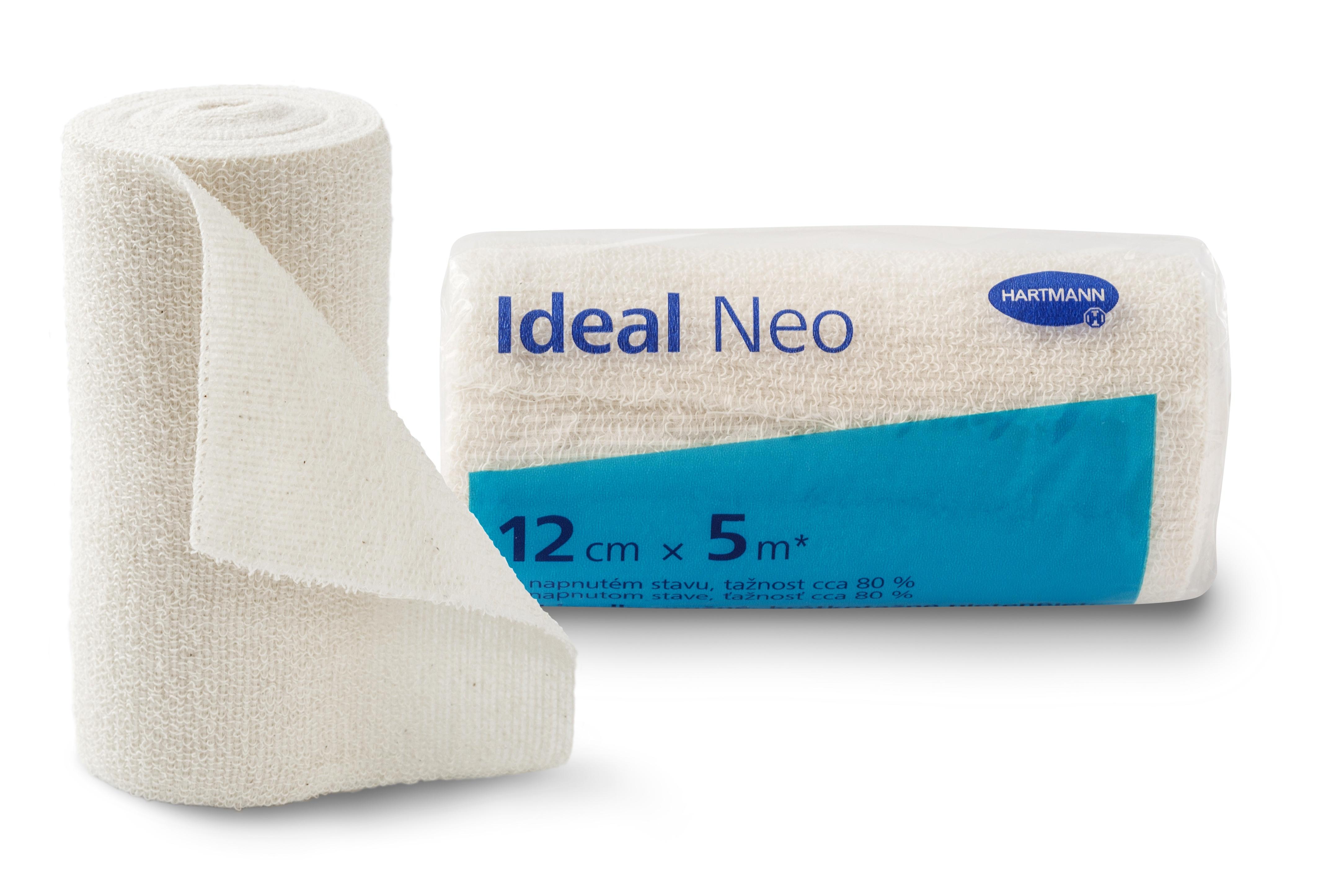Elastické obinadlo Ideal Neo 12 cm × 5 m vhodné pro ošetřování onemocnění žilního a lymfatického systému