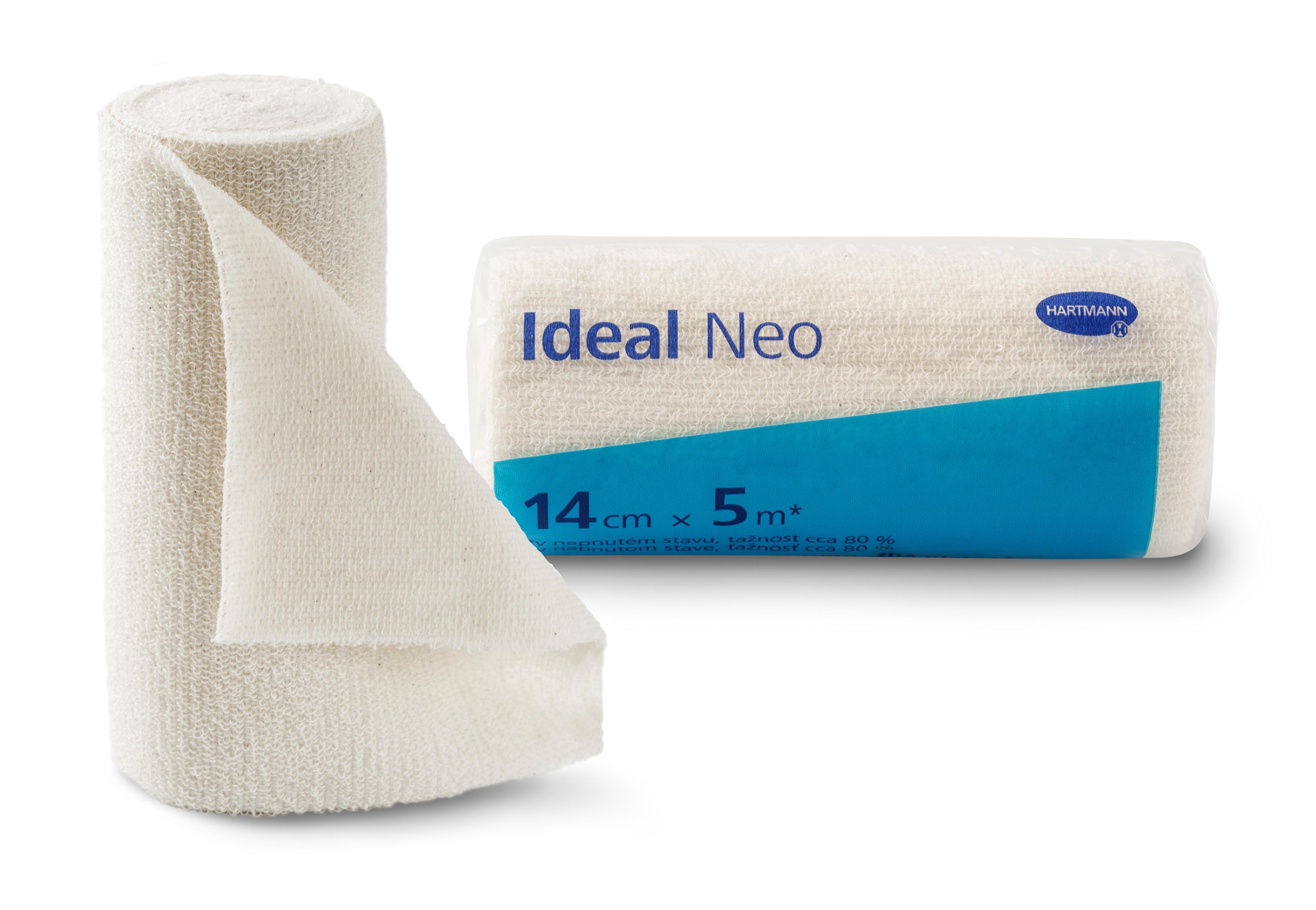Elastické obinadlo Ideal Neo 14 cm × 5 m vhodné pro ošetřování onemocnění žilního a lymfatického systému