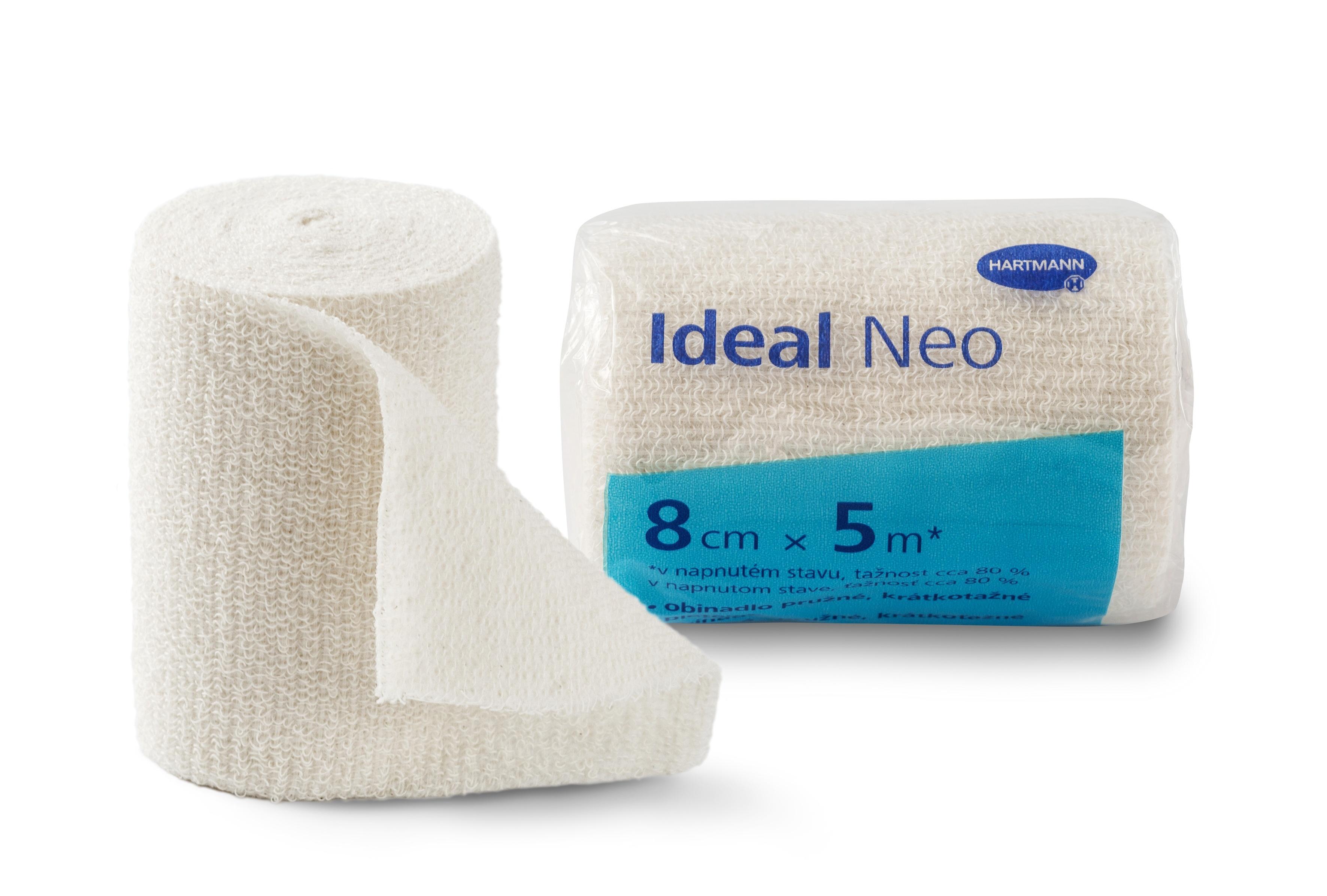 Elastické obinadlo Ideal Neo 8 cm × 5 m vhodné pro ošetřování onemocnění žilního a lymfatického systému