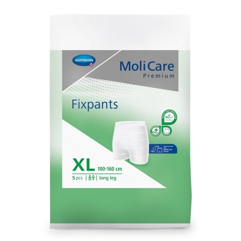 Fixační kalhotky MoliCare Premium FIXPANTS pro fixaci vložek a vložných plen velikost XL - dlouhé