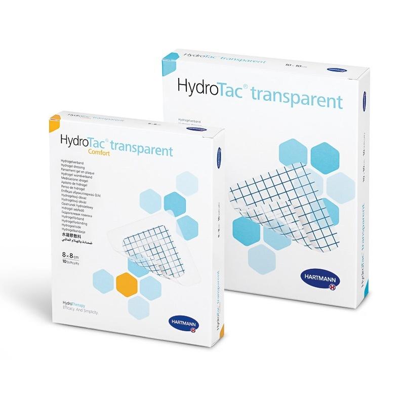 Transparentní hydrogelový obvaz HydtoTac Transparent a Transparent Comfort