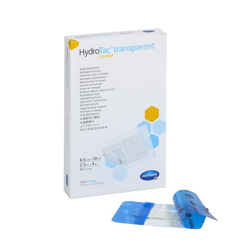 Hydrogelový obvaz HydroTac Transparent Comfort 6,5 x 10 cm