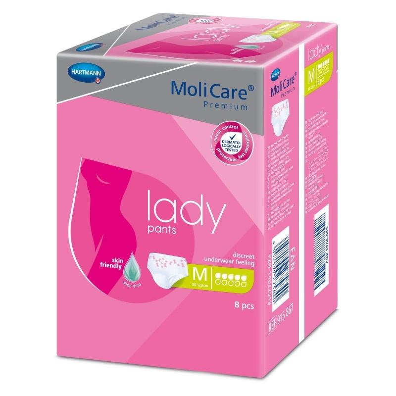 Dámské inkontinenční kalhotky MoliCare Lady Pants 5 kapek velikost M
