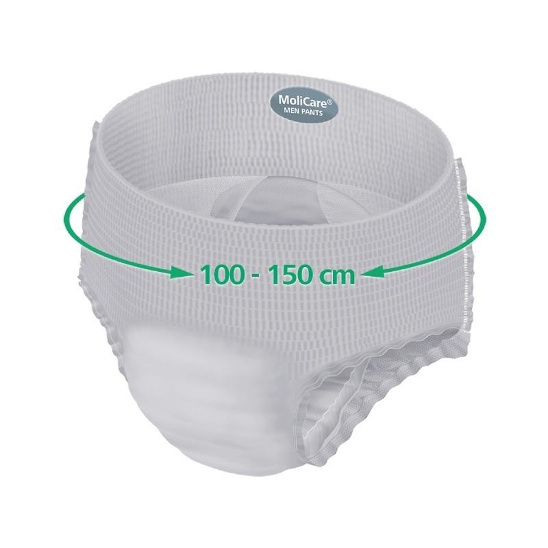 Inkontinenční kalhotky pro muže 100-150 cm