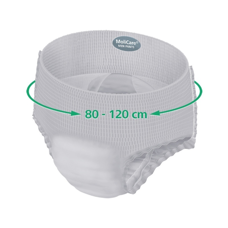 Inkontinenční kalhotky pro muže 80-120 cm