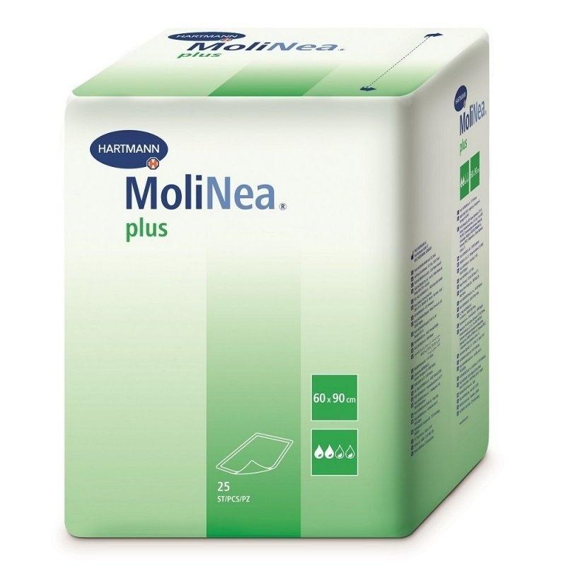 Inkontinenční podložky MoliNea Plus k ochraně lůžka a ložního prádla
