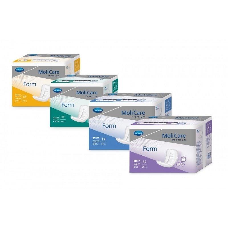 Inkontinenční vložné pleny MoliCare Premium FORM pro střední typ inkontinence