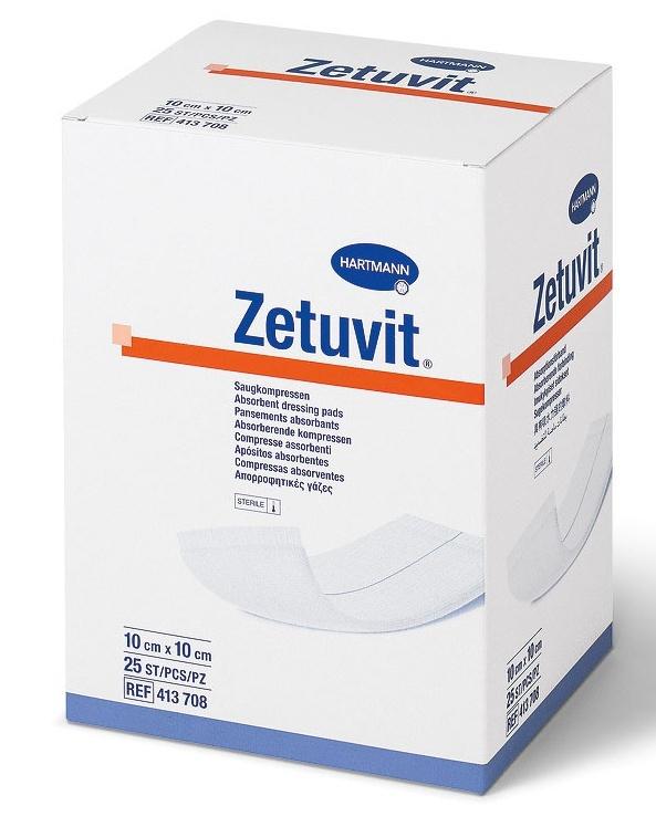 Sterilní kompres Zetuvit na rány 10 × 10 cm 25 ks