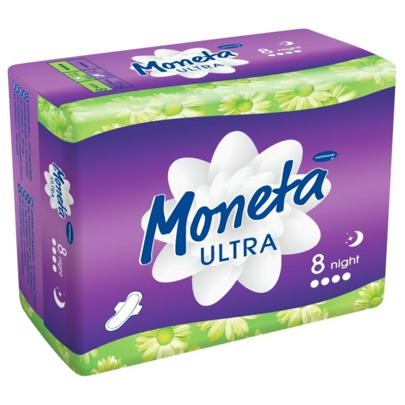 Dámské menstruační vložky Moneta Ultra Night