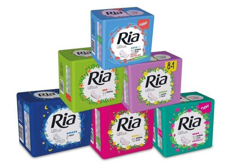Menstruační vložky Ria ultra  poskytující spolehlivou každodenní ochranu
