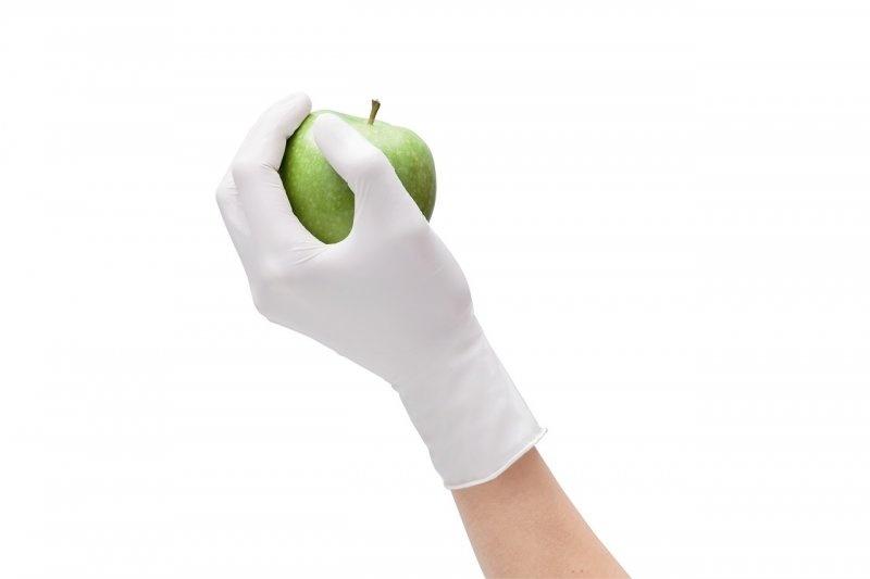 Nitrilové rukavice Peha-soft nitrile white na ruce