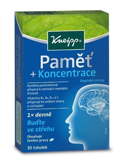 Doplněk stravy pro zlepšení paměti a koncentrace Kneipp