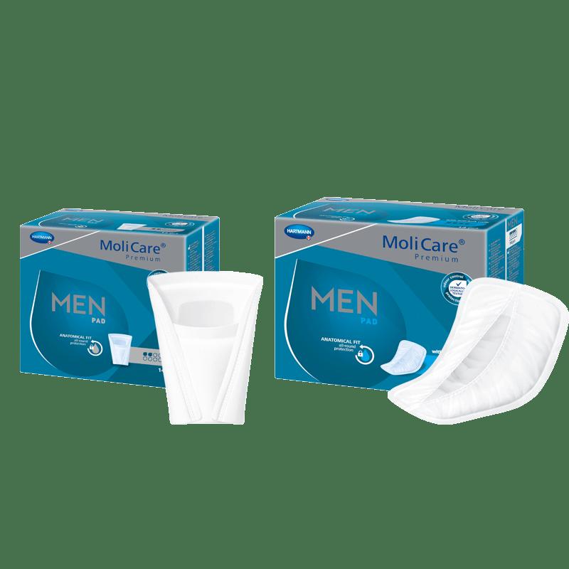 Pánské inkontinenční vložky MoliCare Men pro lehký únik moči