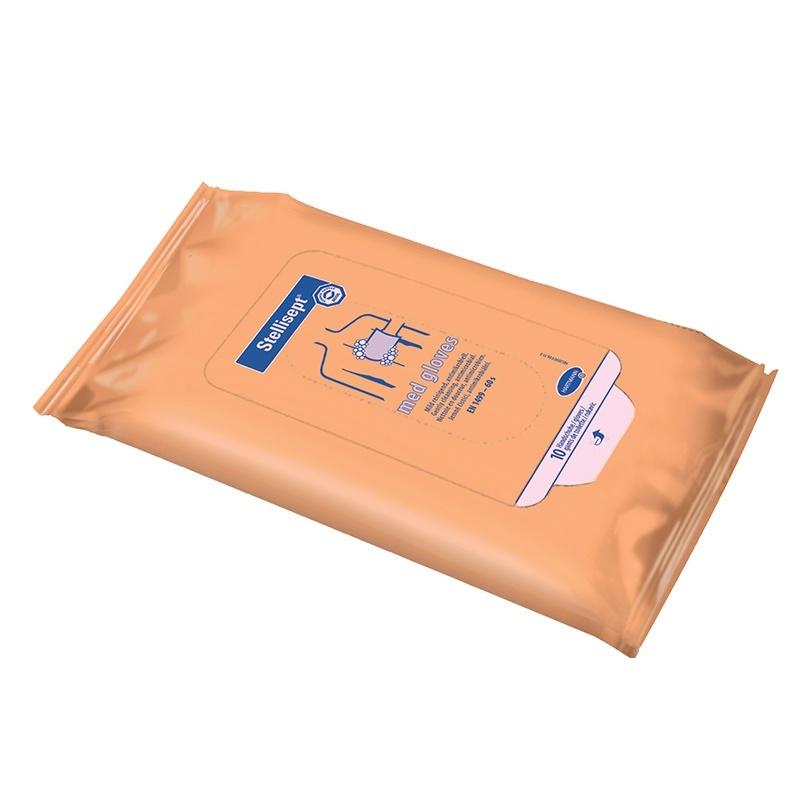 Vlhčené rukavice Stellisept® med gloves