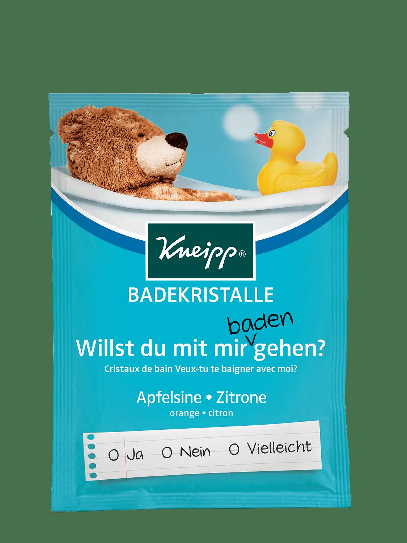 Sůl do koupele Kneipp Pojď si zaplavat! z éterické oleje z pomerančů a citronů 60 g
