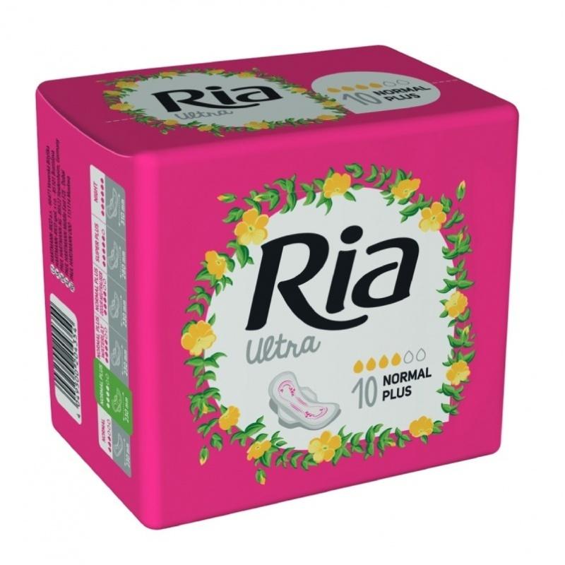 Dámské vložky Ria Ultra Normal Plus 10 - s křidélky