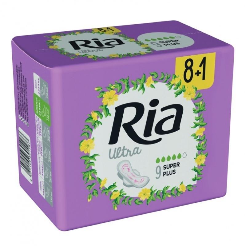 Dámské vložky Ria Ultra Super Plus 9 - s křidélky, delší